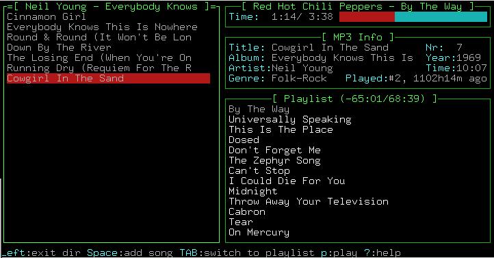 screenshot of pytone